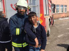 Başkale'de yangın tatbikatı