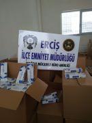 Erciş'te 10 bin 520 paket kaçak sigara ele geçirildi