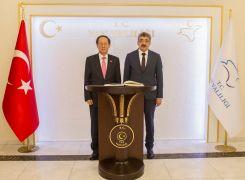 Kore Büyükelçisi Hongghi Choi'den Vali Bilmez'e ziyaret