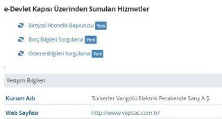 Türkerler VEPSAŞ e-Devlet'te hizmete başladı