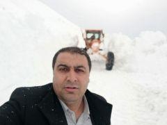 Van-Bahçesaray yolunda karla mücadele çalışmaları
