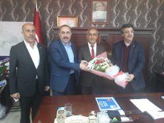 AK Parti heyetinden Başkan Ensari'ye ziyaret