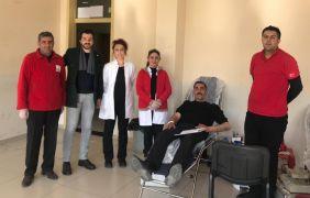 Mehmet Akif Ersoy Lisesinden kan bağışı kampanyası