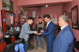 Başkan Şeylan'dan esnafa teşekkür ziyareti