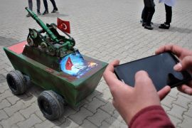 Lise öğrencisi 'insansız mini tank' tasarladı