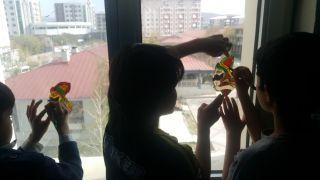 Mülteci çocuklar Karagöz-Hacivat ile tanıştı
