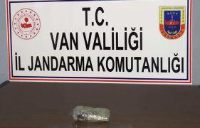 Sınır hattında 1 kilo 251 gram afyon sakızı ele geçirildi