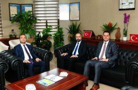 Vali Yardımcısı Aslan ve Kaymakam Öztürk'ten Rektör Şevli'ye ziyaret