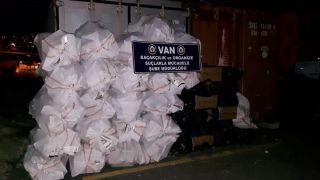Van'da 26 bin 250 paket sigara ele geçirildi