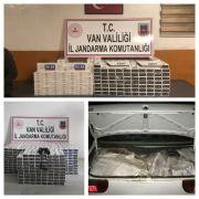 Van'da 3 bin 870 paket kaçak sigara ele geçirildi