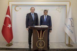 AB Delegasyonu Başkanı Berger'den Vali Bilmez'e ziyaret