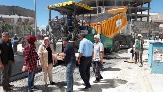 Başkan Çetin, yol yapım çalışmalarını yerinde inceledi