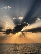 Gün batımında muhteşem Türkiye haritası