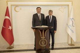 Kırgız Büyükelçisi Omuraliyev'den Vali Bilmez'e ziyaret