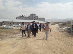 Başkanı Ensari, yapımı devam eden hastane inşaatını ziyaret etti