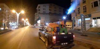 Erciş'te mahallelerde ilaçlama çalışmaları devam ediyor