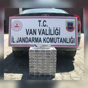 Van'da 520 paket kaçak sigara ele geçirildi
