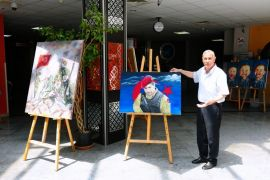 """YYÜ'de """"15 Temmuz Demokrasi ve Milli Birlik"""" konulu resim sergisi"""