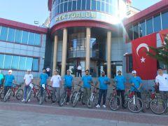YYÜ Rektörlüğünden 15 Temmuz bisiklet turu