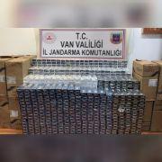 Çaldıran-İran sınır hattında 30 bin 390 paket kaçak sigara ele geçirildi