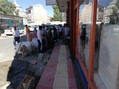 Erciş Belediyesi'nden kaldırım çalışması