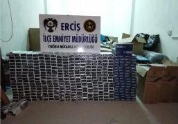 Hurda yığınlarının arasında 5 bin 450 paket kaçak sigara ele geçirildi