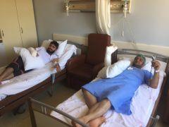 Kazada yaralanan göçmenlerin tedavileri sürüyor