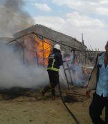 Van'da konteyner yangını
