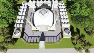 Hasta yakınlarının ihtiyacı için cami ve külliye inşa ediliyor