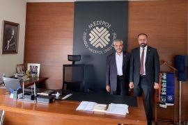 Rektör Şevli'den Rektör Aydın'a ziyaret