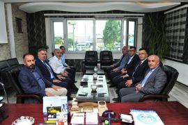 Van YYÜ Rektörü Prof. Dr. Şevli'den Çaldıran Belediye Başkanı Ensari'ye iade-i ziyaret