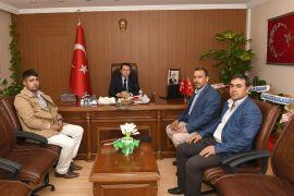AK Parti İlçe Başkanı Kuncu'dan Kaymakam Çeçen'e ziyaret