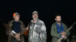 Erciş'te yaban domuzlarına sürek avı