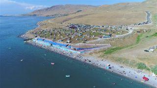 Tuşba Belediyesinin 'Mavi Bayraklı Halk Plajı' sezonu kapattı