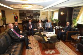 Van heyetinden Cumhurbaşkanlığı Strateji ve Bütçe Başkanı Naci Ağbal'a ziyaret