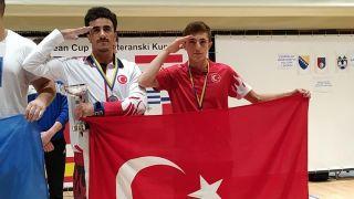 Vanlı halterci Bosna Hersek'ten madalyayla döndü