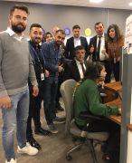 Müdür Sünnetçioğlu'ndan çağrı merkezine ziyaret