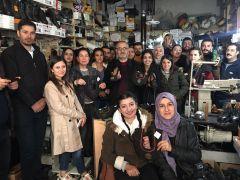 Van YYÜ öğrencileri, asırlık ayakkabıların imalatını izledi
