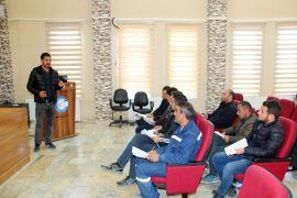 Edremit Belediye personeline yüksekte çalışma eğitimi
