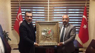 Kaymakam Çelik'ten MHP'ye ziyaret