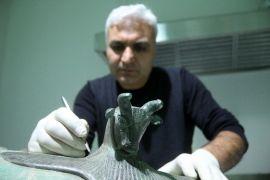 Urartuların boğa başlı kazanı Van'da sergilenecek