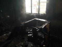 Van'da ev yangını