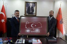 Başkan Kahraman'dan emniyet müdürü Karabağ'a ziyaret