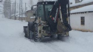 Özalp ilçesinde kar yağışı