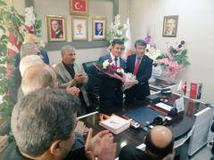"""Türkmenoğlu'ndan yeni ilçe başkanlarına """"hayırlı olsun"""" ziyareti"""