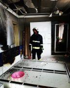 Tuşba'da ev yangını