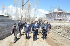 Erciş Belediyesinden yol yapım çalışması
