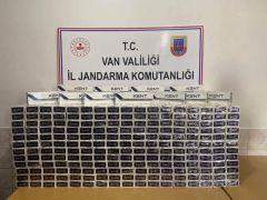 Çaldıran'da 6 bin 500 paket kaçak sigara ele geçirildi