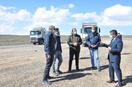 Kaymakam Mehmetbeyoğlu OSB'nin altyapı çalışmalarını inceledi