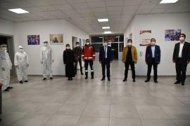 Müdür Sünnetçioğlu'ndan yurtlarda gözlem altında tutulan vatandaşlara ziyaret
